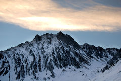 Mountain Peaks at Pyrenees Stock Photo
