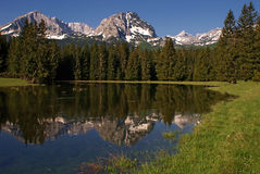 Mountain Peaks Reflection Stock Photos