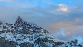 Mountain peaks stock video footage