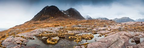Mountain peaks, Scotland Royalty Free Stock Images