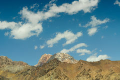 Mountain peaks and sky Stock Photography