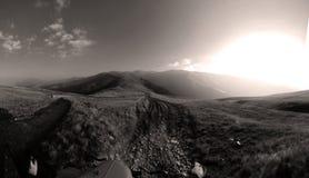 Mountain peaks, skyline landscape Royalty Free Stock Images