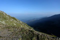 Mountain peaks, skyline landscape Stock Image