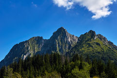 Mountain peaks and slopes in the Western Tatras Stock Image