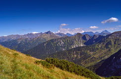 Mountain peaks and slopes in the Western Tatras Royalty Free Stock Photography