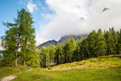 Mountain peaks in Slovenian Alps Royalty Free Stock Photos