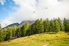 Mountain peaks in Slovenian Alps Royalty Free Stock Photo
