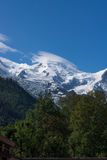 Mountain peaks with snow in French Alps, MontBlanc Stock Photo