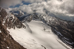 Mountain peaks, snow and glaciers near Kaprun - Zell am See, Austria Stock Photography