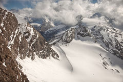 Mountain peaks, snow and glaciers near Kaprun - Zell am See, Austria Royalty Free Stock Photo