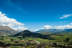 Mountain Peaks with Snow Meadow, New Zealand. Mountain Peaks with Meadow, New Zealand Stock Photo