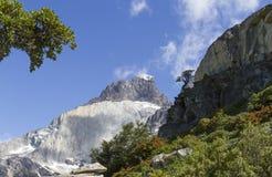Mountain peaks in spring Stock Photo