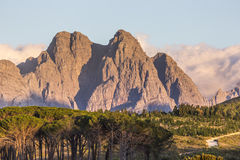 Mountain Peaks in Stellenbosch Royalty Free Stock Photos