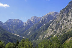 Mountain peaks. In the Stoder-valley in the austrian alps Stock Images