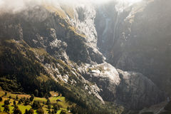 Mountain peaks, streams and meadows in Grindelwald, Switzerland Royalty Free Stock Photography
