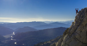 In the mountain peaks. Success position Royalty Free Stock Photo