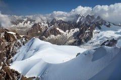 Mountain peaks, swiss alps Stock Photos