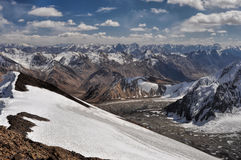 Mountain peaks in Tajikistan Stock Photo