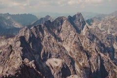 Mountain peaks in the Tatras Stock Photos