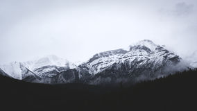 Mountain peaks in winter