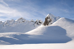 Mountain peaks in winter in Austrian Alps Royalty Free Stock Photography