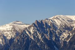 Mountain peaks during winter Royalty Free Stock Images