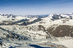 Mountain peaks in winter time. French alps royalty free stock image