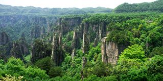 Mountain Peaks in Zhangjiajie, China Royalty Free Stock Photos