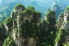 Mountain Peaks in Zhangjiajie, China Royalty Free Stock Images