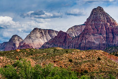 Mountain Peaks at Zion National Park, Utah. Stock Photos