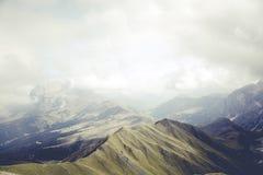 Mountain Peek during Daytime Stock Image