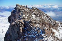 The Mountain people one Armenia. The highest heak Aragats. The Mountain people one Armenia The highest heak Aragats people Caucasus clouds n Stock Photos