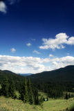 Mountain perspective. Viewpoint in apuseni mountains in summer time Royalty Free Stock Images
