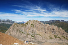 Mountain Pic des Sarradets in summer. Stock Photography