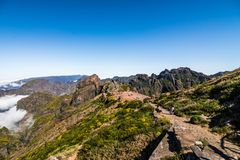 Mountain Pico do Arieiro mountain Landscape In the heart of Madeira royalty free stock photo