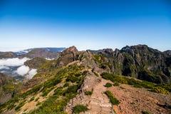Mountain Pico do Arieiro mountain Landscape In the heart of Madeira stock photo