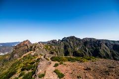 Mountain Pico do Arieiro mountain Landscape In the heart of Madeira stock photography