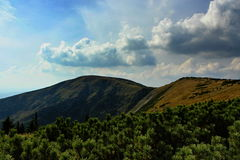 Mountain. Picture of the largest mountain range in the Czech Republic (the giant mountains royalty free stock images