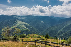Mountain. This picture show the mountains from Romania, countryside, old village, forests, fence Royalty Free Stock Image