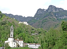 The mountain pierced in Lucca. Mount Forato or Pania Forata is a small mountain in the Apuan Alps, in the province of Lucca Stock Photography