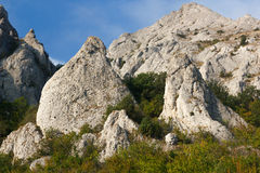 Mountain. Pile of limestone rocks Syuryu-Kai, Karadag, Koktebel, Crimea royalty free stock image