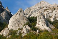 Mountain. Pile of limestone rocks Syuryu-Kai, Karadag, Koktebel, Crimea Royalty Free Stock Image