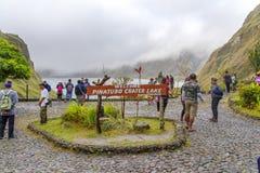 Mountain Pinatubo Crater Lake trekking Stock Photography
