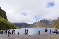 Mountain Pinatubo Crater Lake trekking Stock Photos