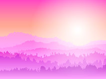 Mountain pink Sunrise Stock Photography