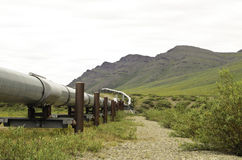 Mountain pipeline view Royalty Free Stock Images