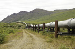 Mountain pipeline view Stock Photos