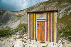 Mountain Pirin Landscape Hut Stock Photo