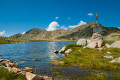Mountain Pirin Tevno Lake Landscape Stock Photo