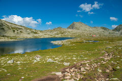 Mountain Pirin Tevno Lake Landscape Stock Photography